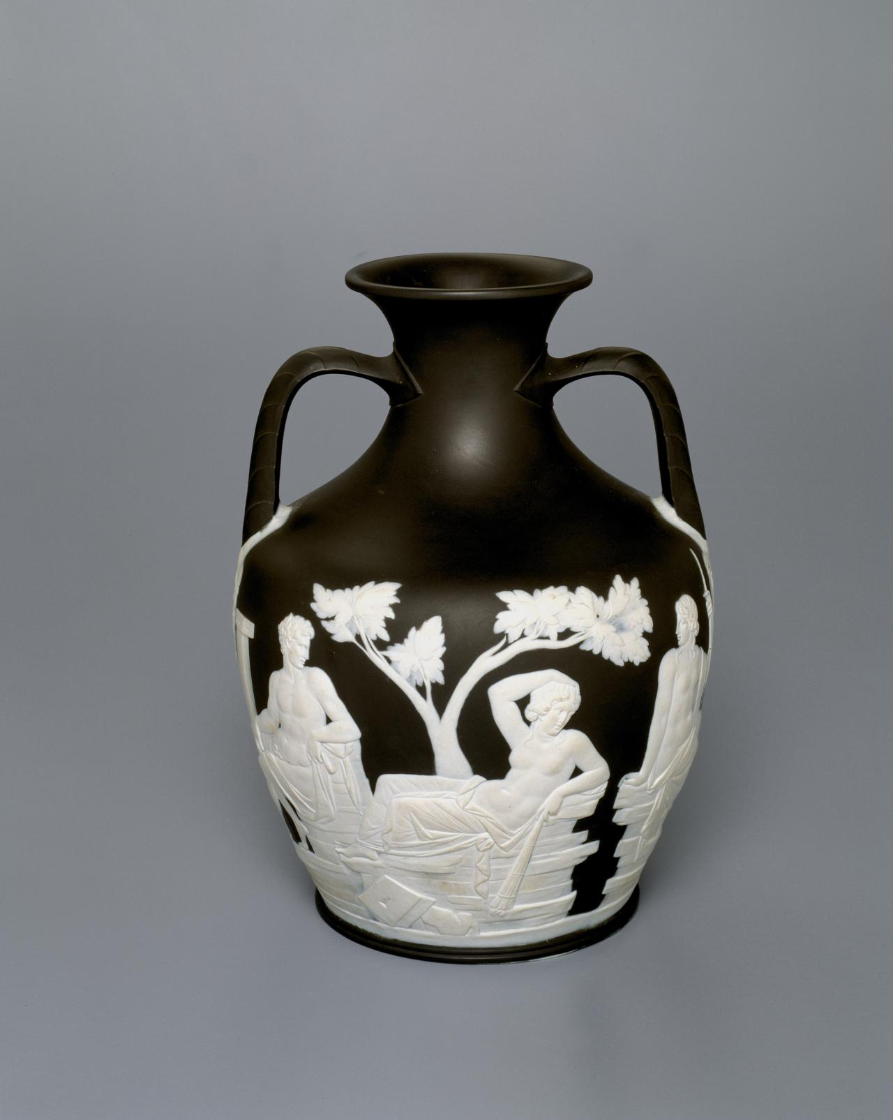 WEDGWOOD, Staffordshire (manufacturer) Portland vase and stand (c. 1790)