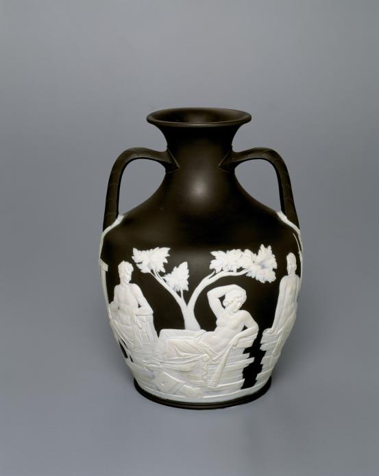 WEDGWOOD, Stoke-on-Trent, Staffordshire (manufacturer) Portland vase and stand (c. 1790)
