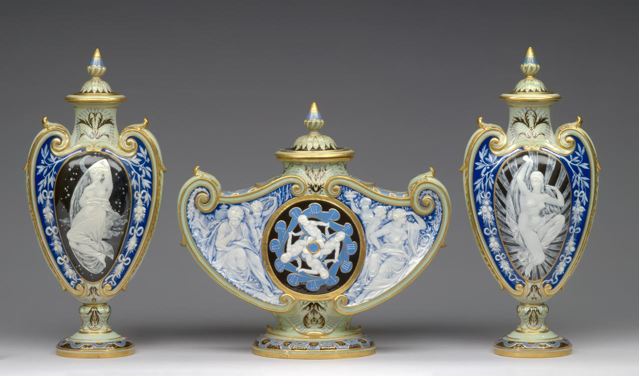 MINTON, Stoke-on-Trent, Staffordshire (manufacturer)  Marc-Louis-Emmanuel SOLON (decorator)