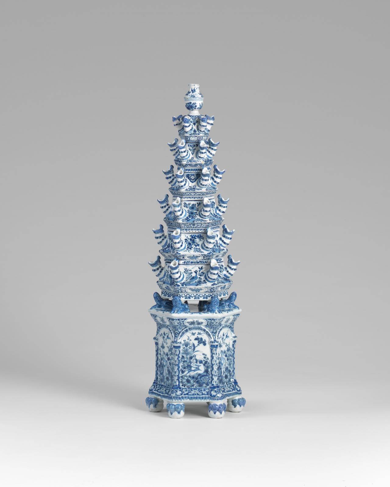 The pyramidal flower vase c 1690 ngv de grieksche a pottery adriaen kocx the greek a pottery delft reviewsmspy