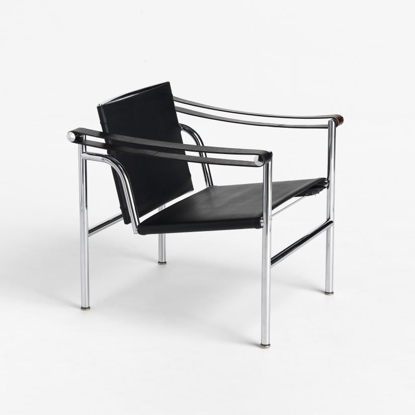 armchair lci le corbusier designer pierre jeanneret designer charlotte perriand. Black Bedroom Furniture Sets. Home Design Ideas