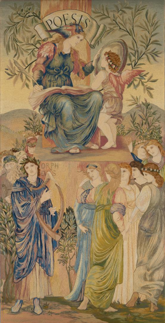 THE ROYAL SCHOOL OF ART NEEDLEWORK, London (manufacturer); William MORRIS (designer); Edward BURNE-JONES (designer) Poesis (c. 1880)