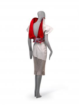 GIVENCHY, Paris (fashion house); Alexander McQUEEN (designer) Cocktail dress 1997 {autumn-winter, Eclect Dissect collection}