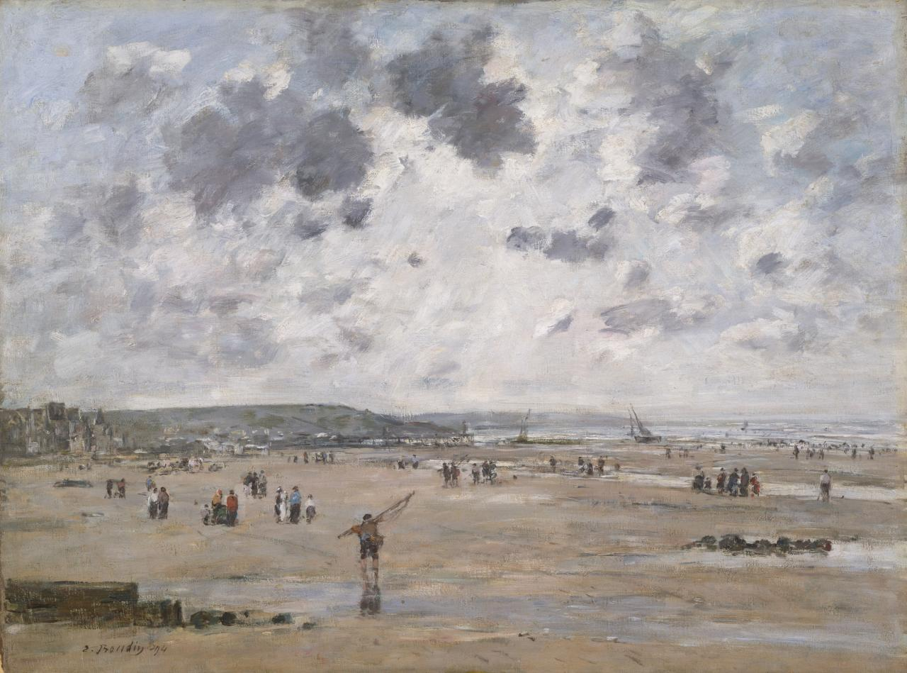 Eugène BOUDIN Low tide at Trouville 1894