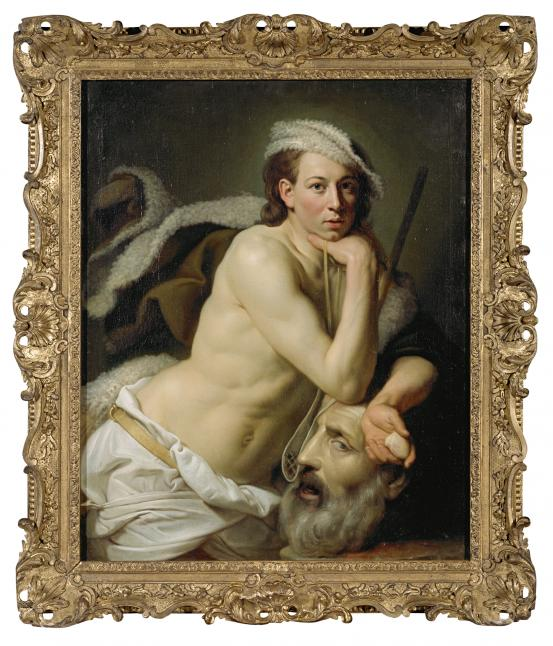 Johan ZOFFANY David with the head of Goliath 1756