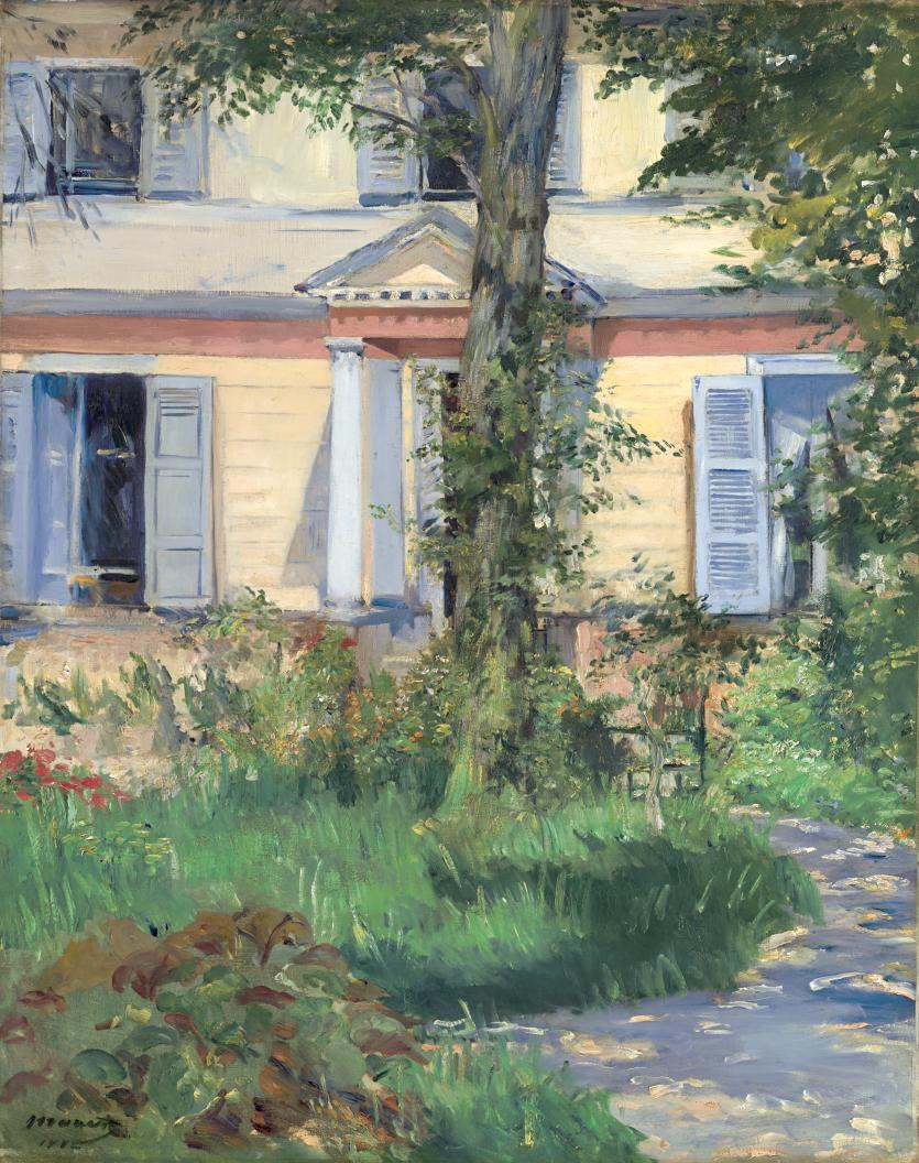 The house at rueil douard manet ngv view work - La maison trojan melbourne ...