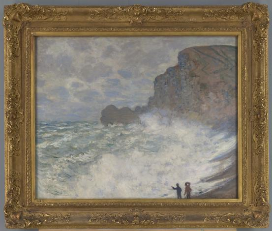 Claude MONET Rough weather at Étretat (1883)