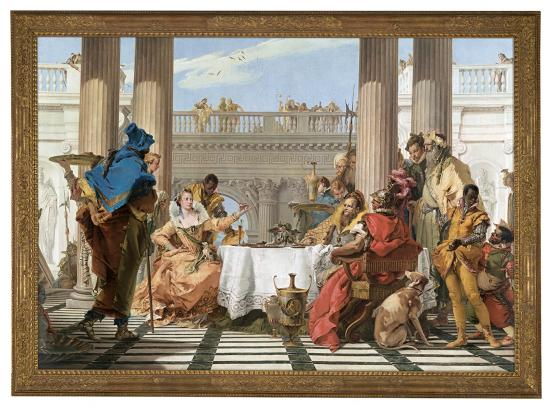 Giambattista TIEPOLO The Banquet of Cleopatra (1743-1744)