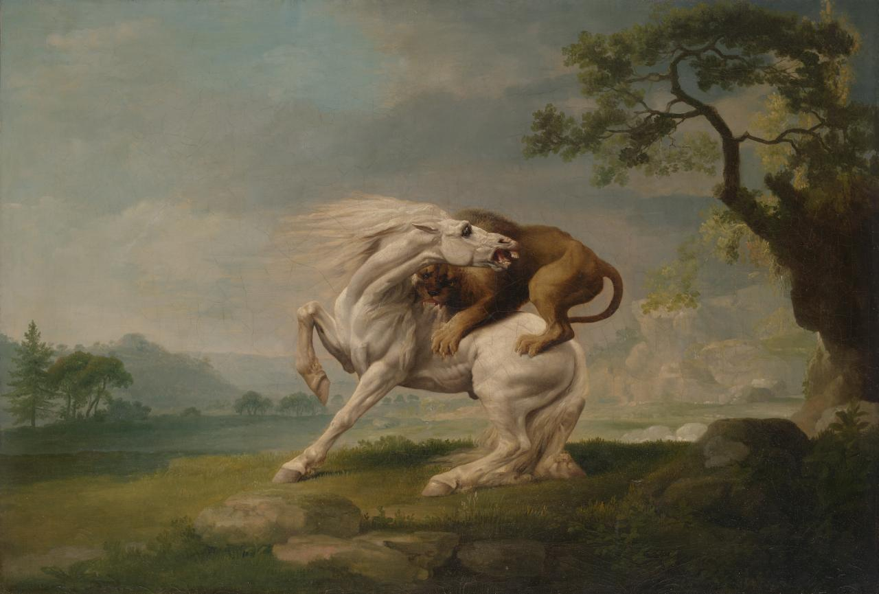 George STUBBS A lion attacking a horse (c. 1765)