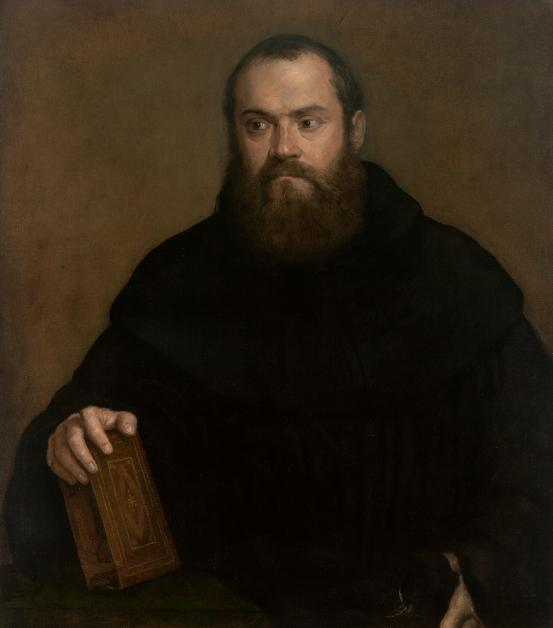 TITIAN A monk with a book (c. 1550)