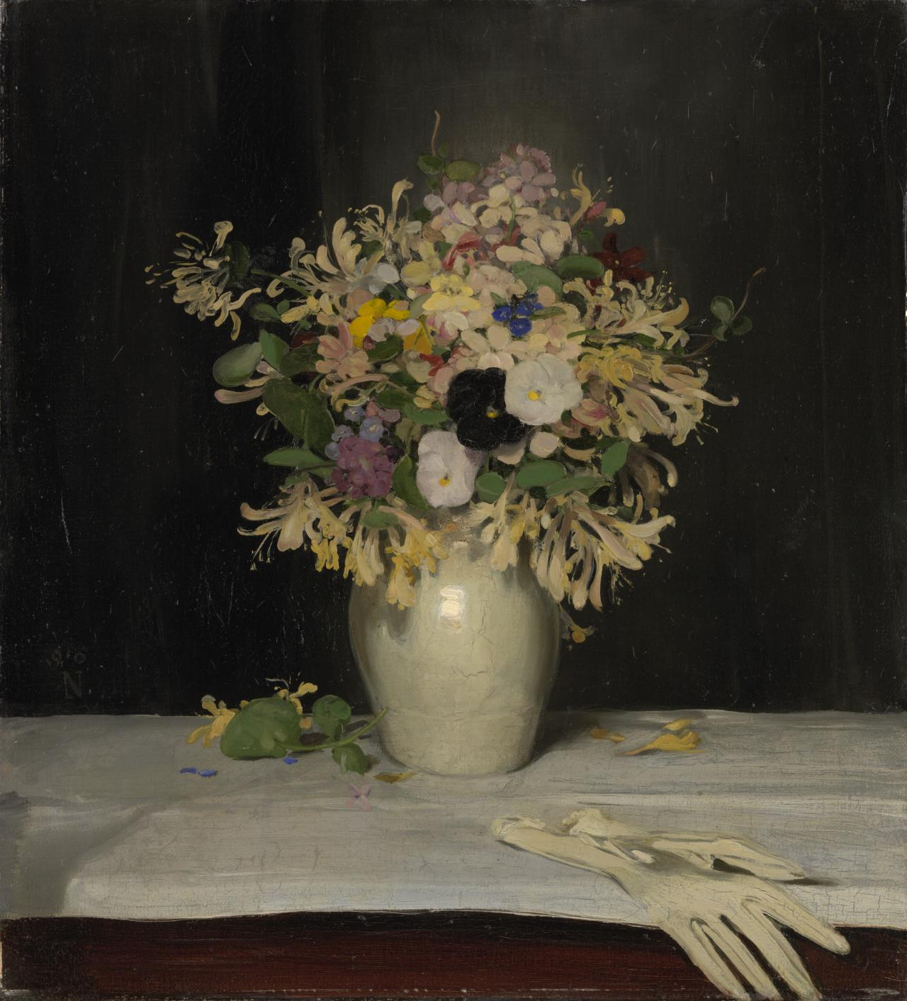 William NICHOLSON The black pansy 1910