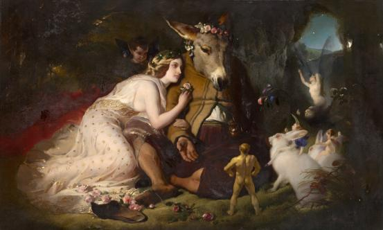 Edwin LANDSEER Scene from A Midsummer Night's Dream. Titania and Bottom (1848-1851)