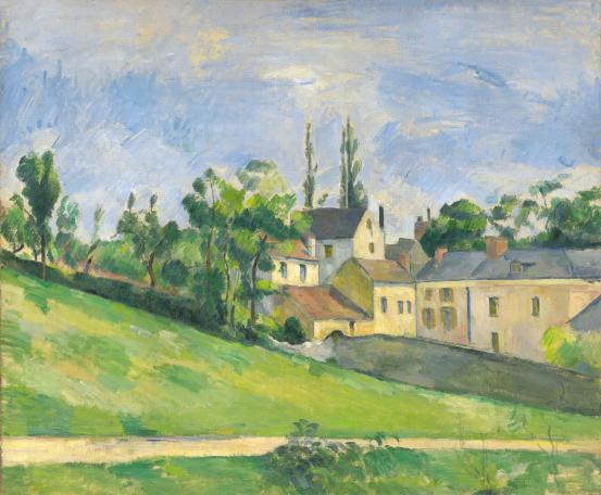 Paul CÉZANNE The uphill road (1881)