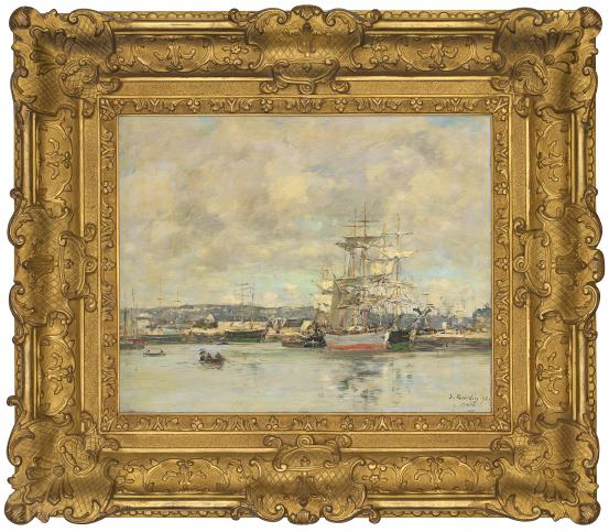 Eugène BOUDIN The port of Le Havre 1892