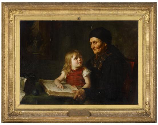 Eleanor BELL Grandmother's reading lesson (c. 1880)