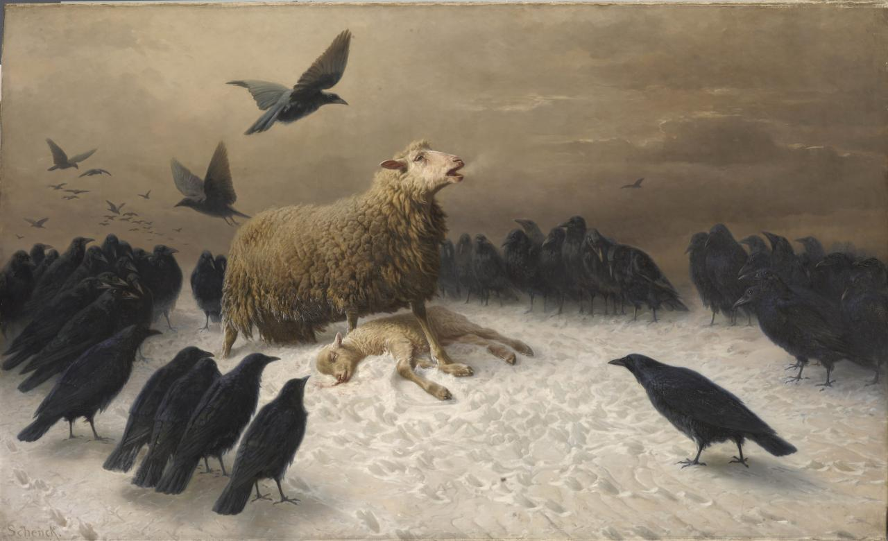August Friedrich Albrecht SCHENCK Anguish (c. 1878)