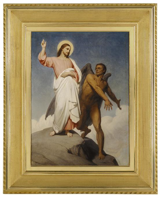 Ary SCHEFFER The temptation of Christ 1854