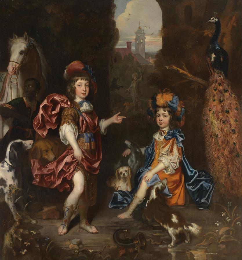 Edward Henry Lee, 1st Earl of Lichfield, and his wife Charlotte Fitzroy as children				(1674)																								Jacob HUYSMANS
