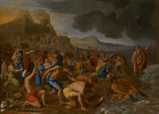 Nicolas POUSSIN The Crossing of the Red Sea (1632-1634)