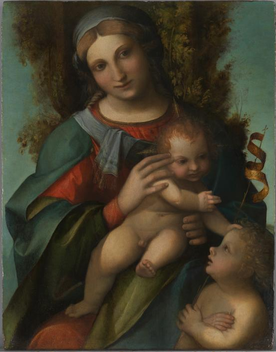 CORREGGIO Madonna and Child with infant Saint John the Baptist (c. 1514-1515)