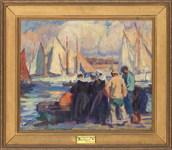 Sydney THOMPSON When the fleet comes in (c. 1923)