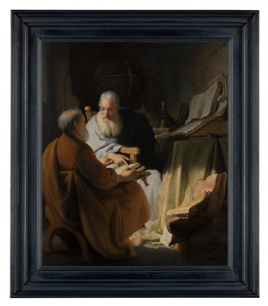 REMBRANDT Harmensz. van Rijn Two old men disputing (1628)