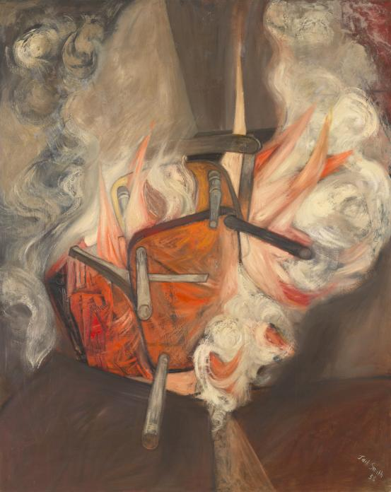 Jack SMITH Two chairs on fire 1956