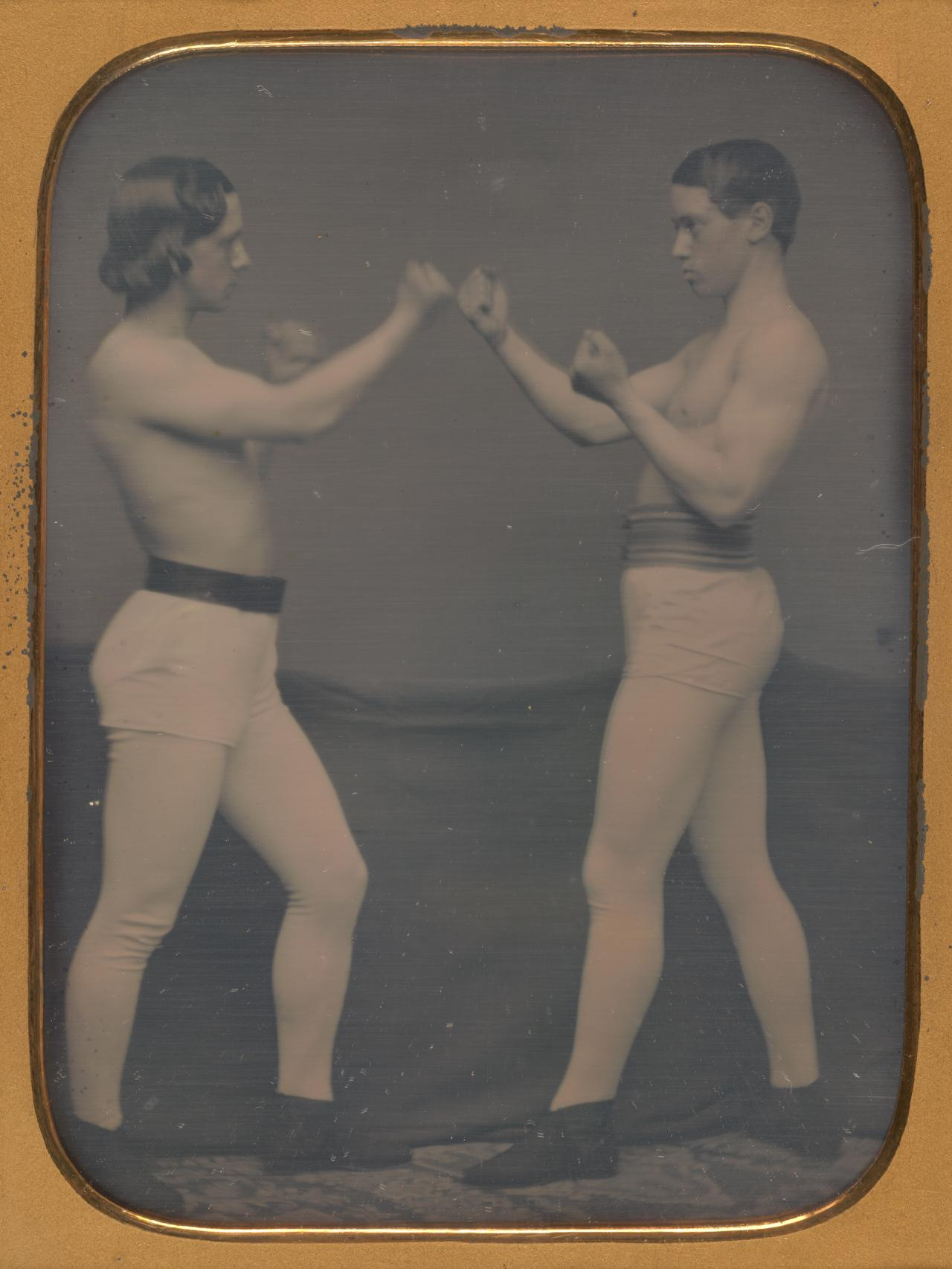 UNKNOWN No title (Two boxers) (1850s)