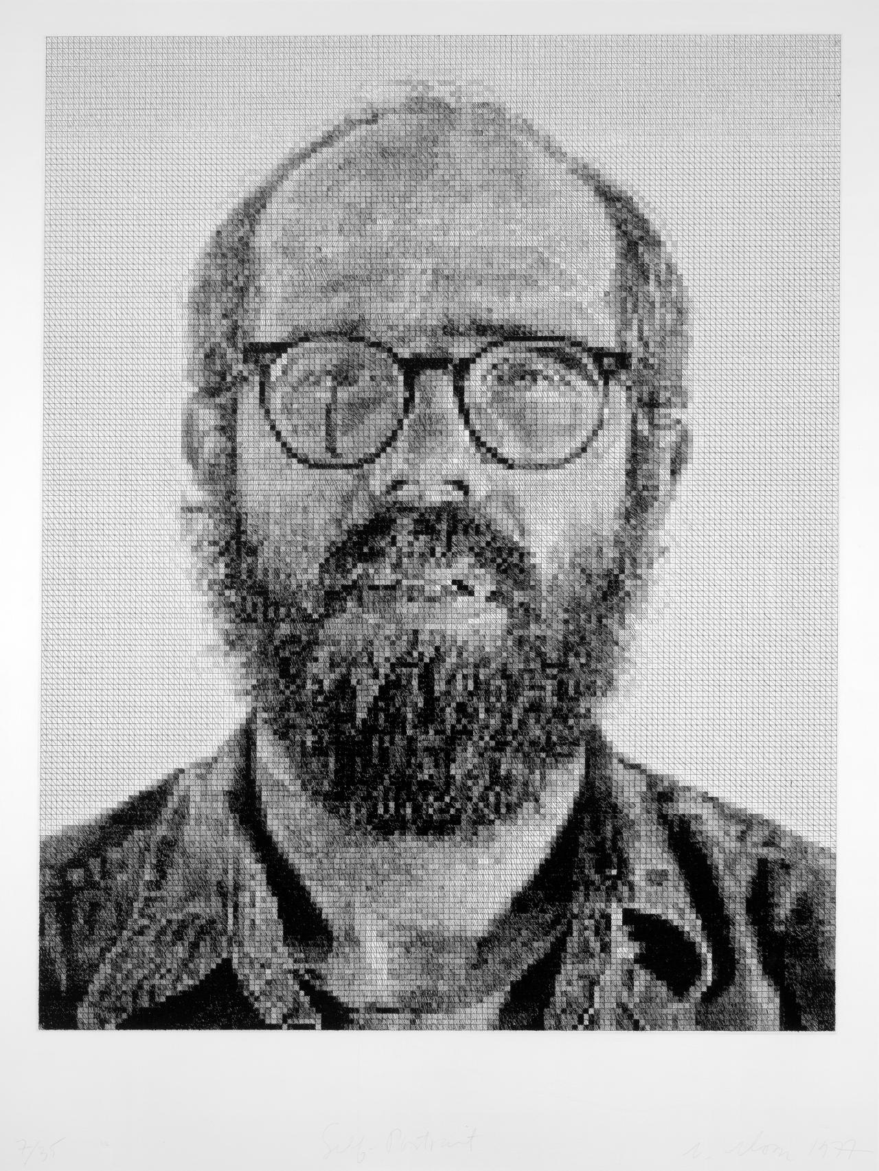 Chuck CLOSE Self-portrait 1977