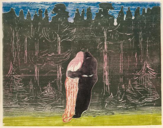 Edvard MUNCH Towards the forest II (1915)
