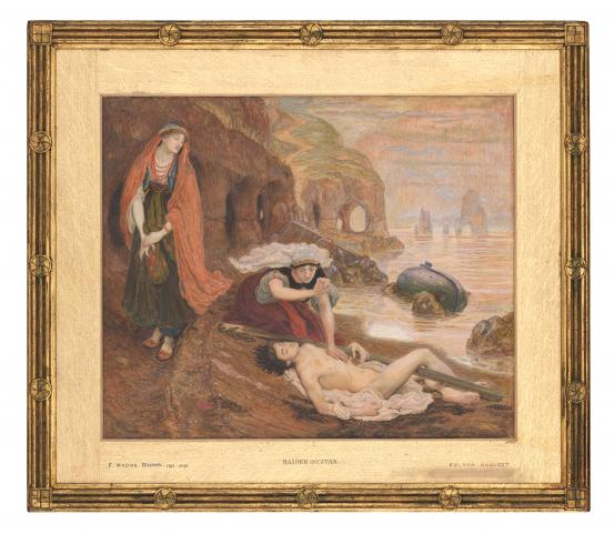 Ford Madox BROWN The finding of Don Juan by Haidée (1869-1870) {retouched (1871) and later}