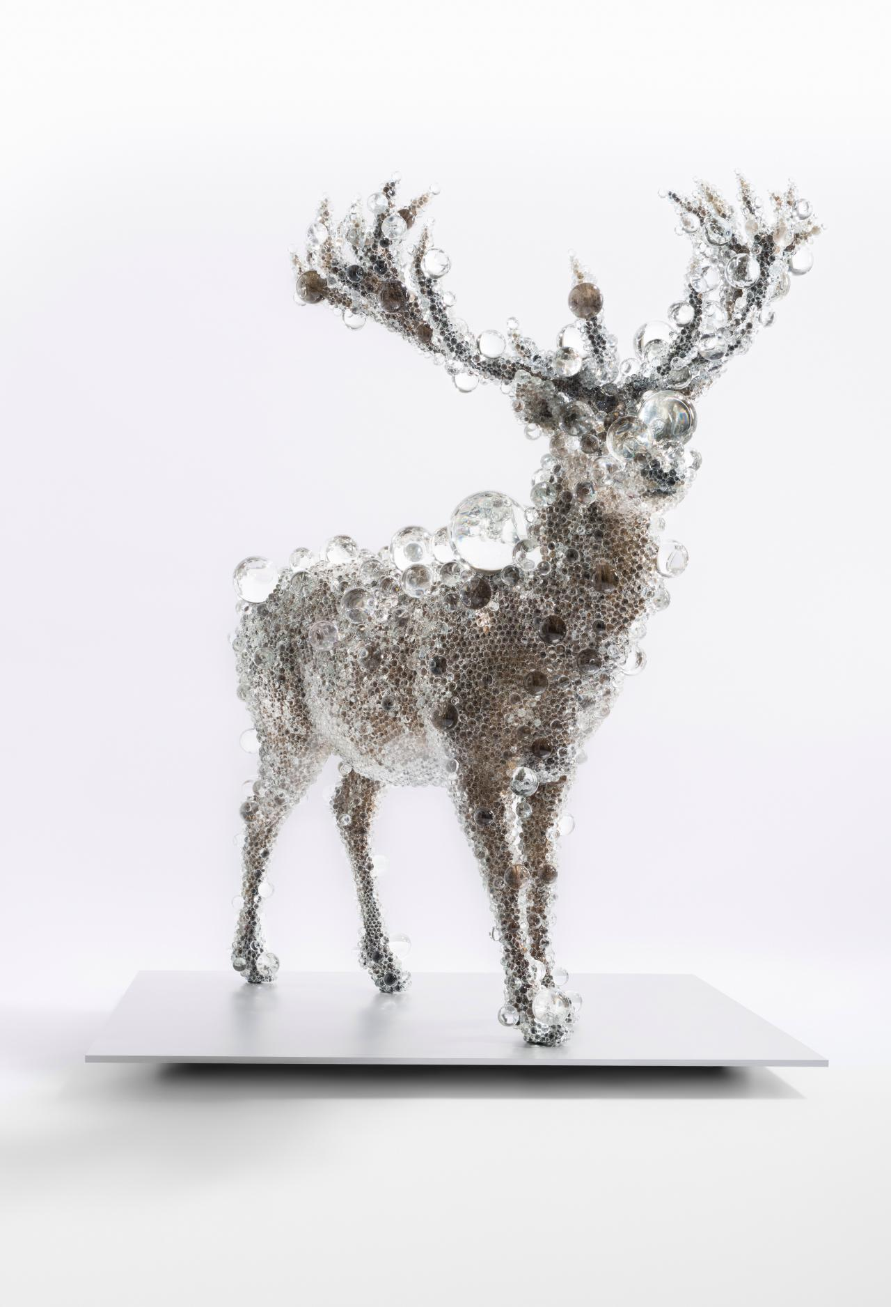 Crystal Encrusted Deer Unveiled Ngv