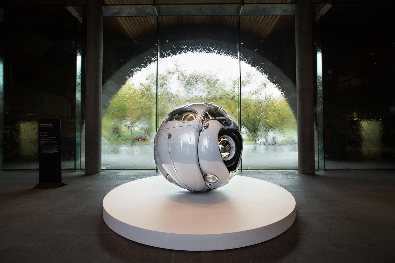 Ichwan Noor Beetle sphere, 2015, installation view, National Gallery of Victoria, Melbourne  Proposed acquisition, Loti & Victor Smorgon Fund