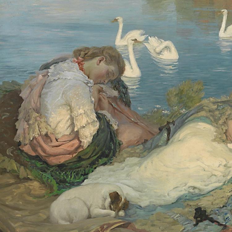 Rupert BUNNY<br/> <em>Endormies</em> (c. 1904)