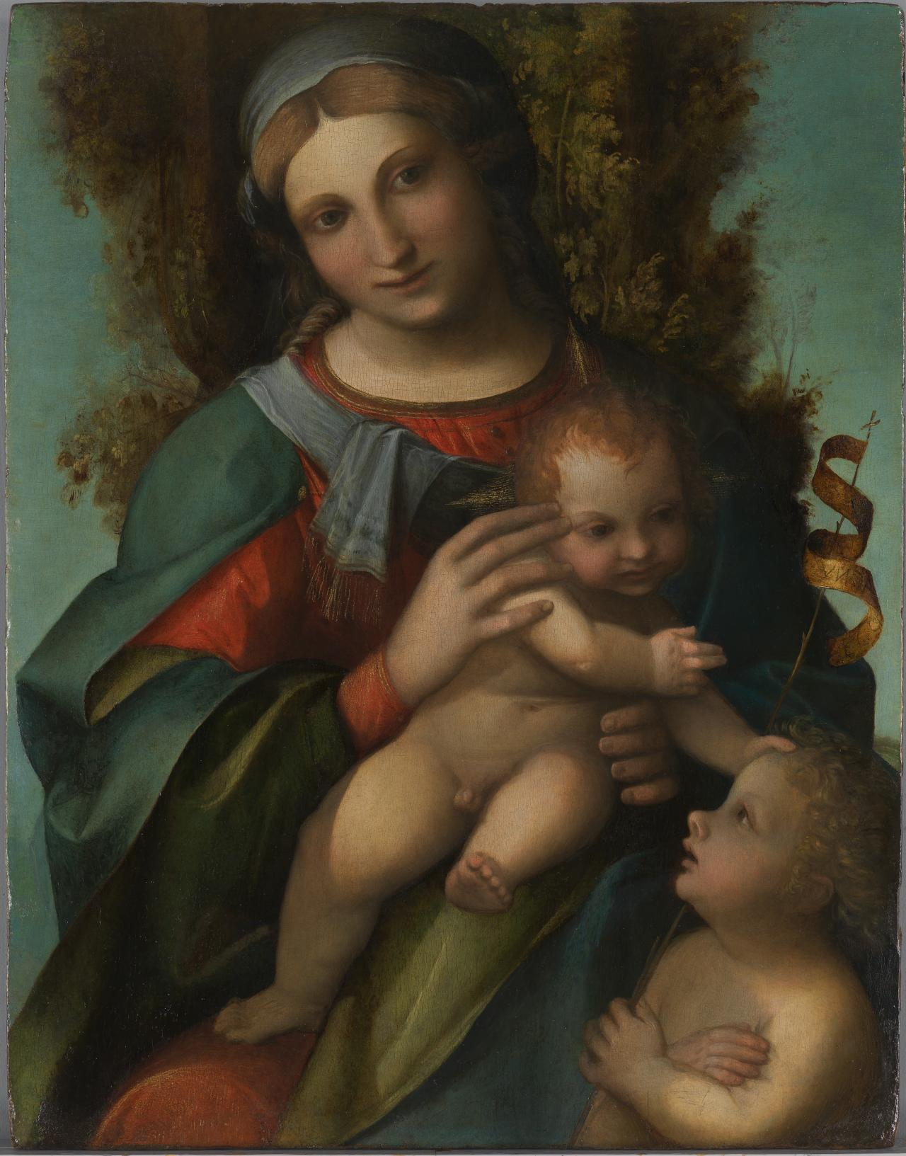 Madonna and Child with infant Saint John the Baptist