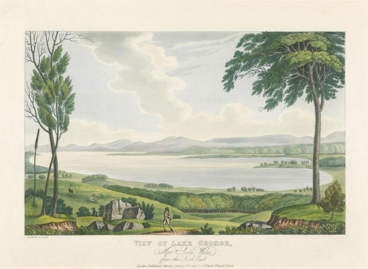 View of Lake George, New South Wales, from the North East