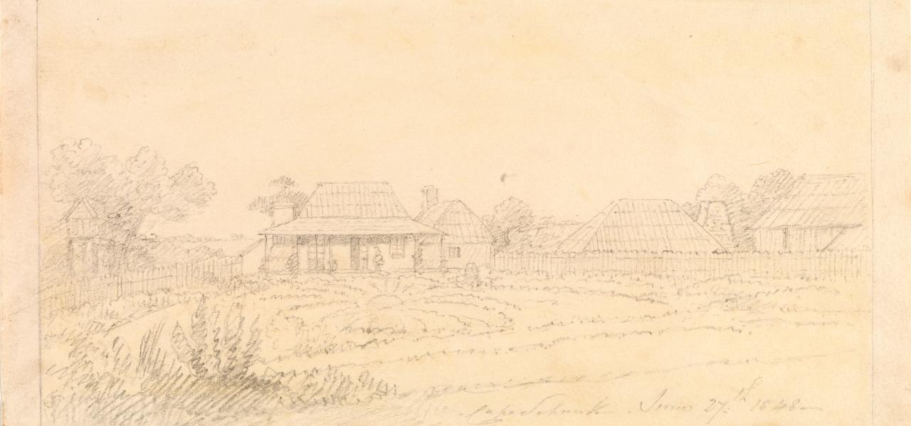 (Sketch of Cape Schanck homestead)