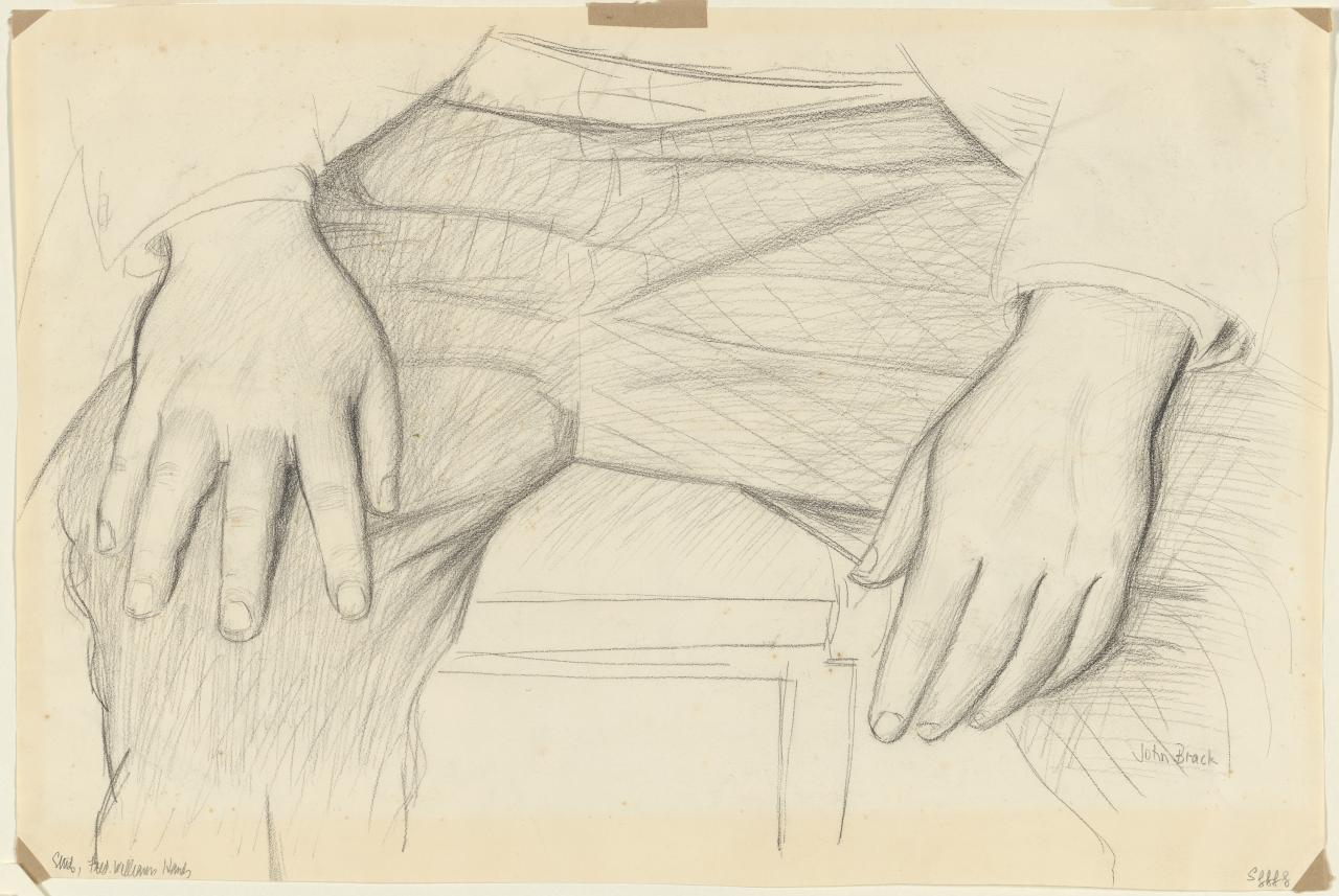 (Study for portrait of Fred Williams: hands)