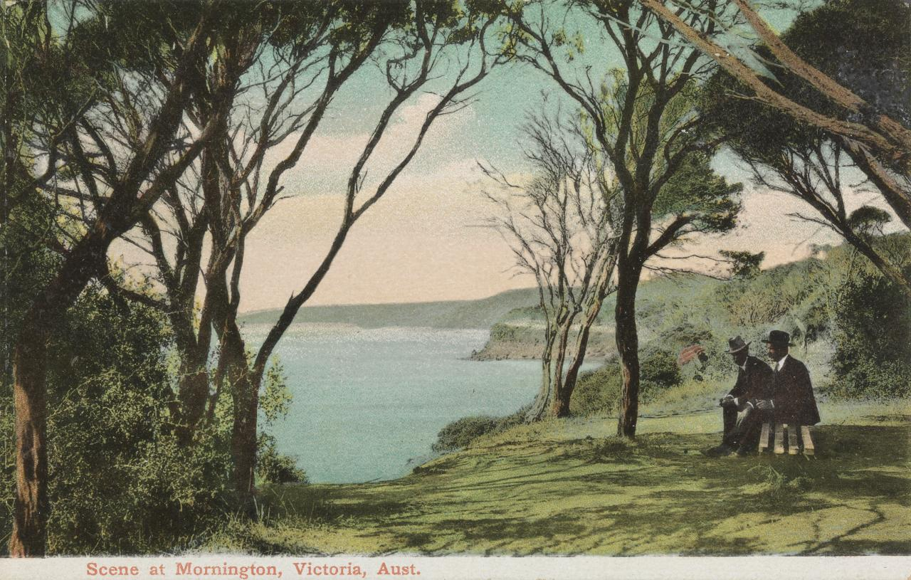 Scene at Mornington, Victoria, Australia, postcard