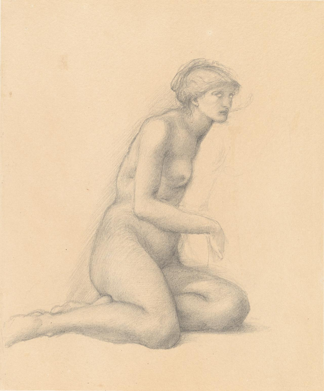 Study for the female figure in The garden of Pan