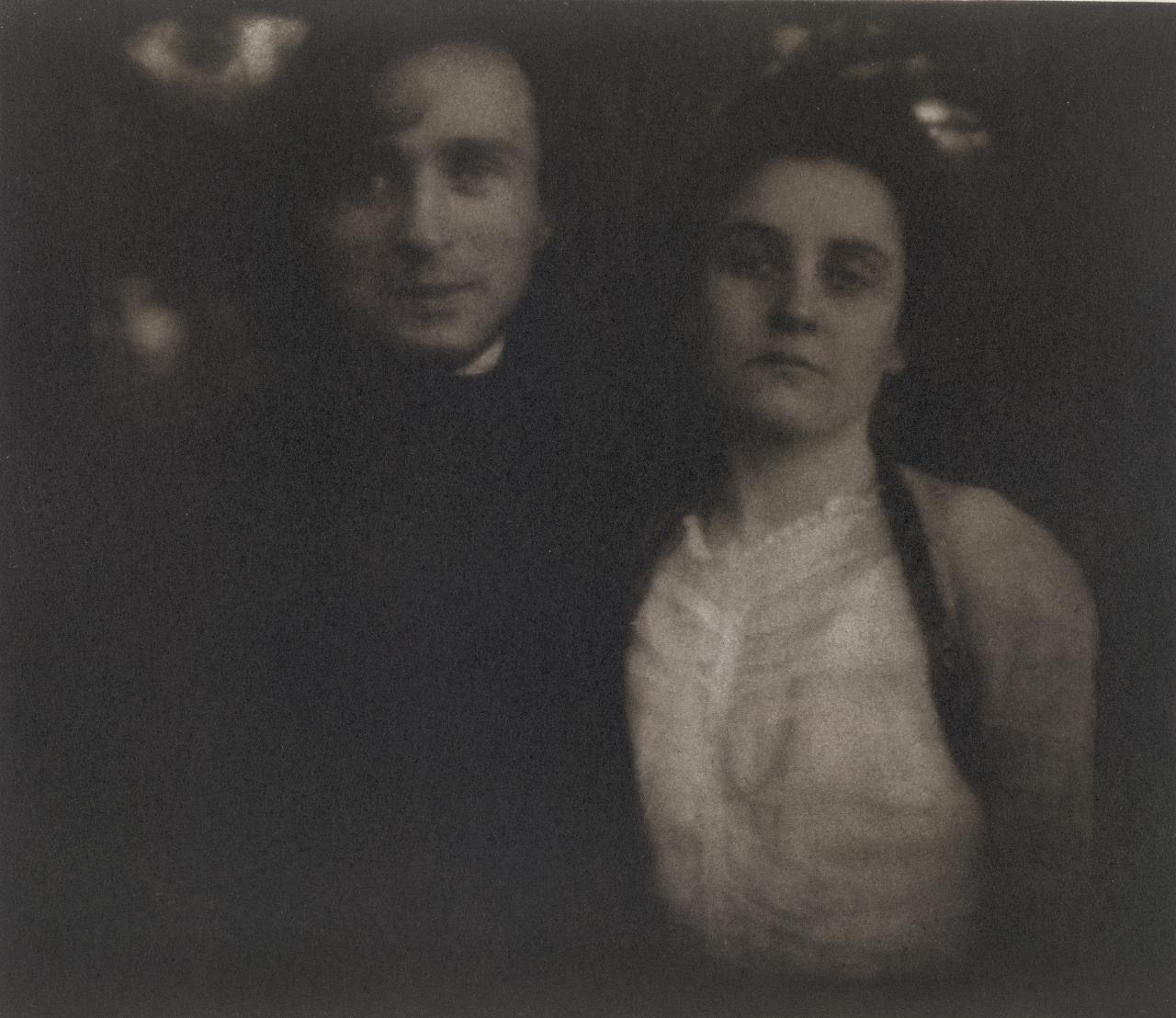 Steichen and wife Clara on their honeymoon