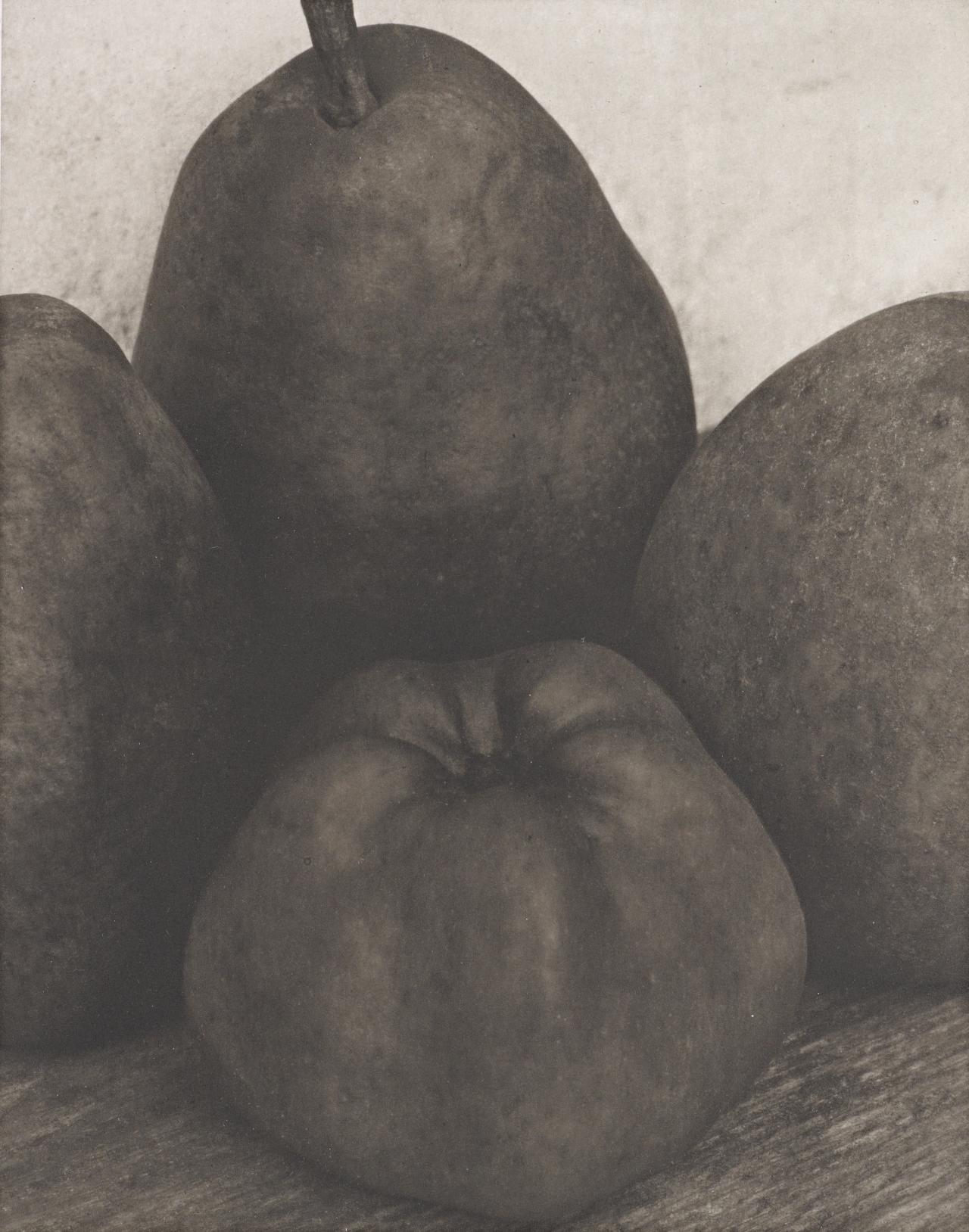 Three pears and an apple