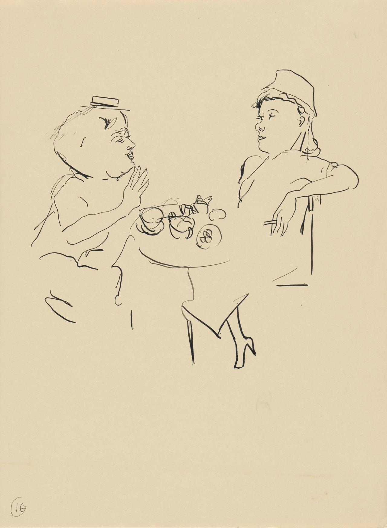 (Two women in a café)