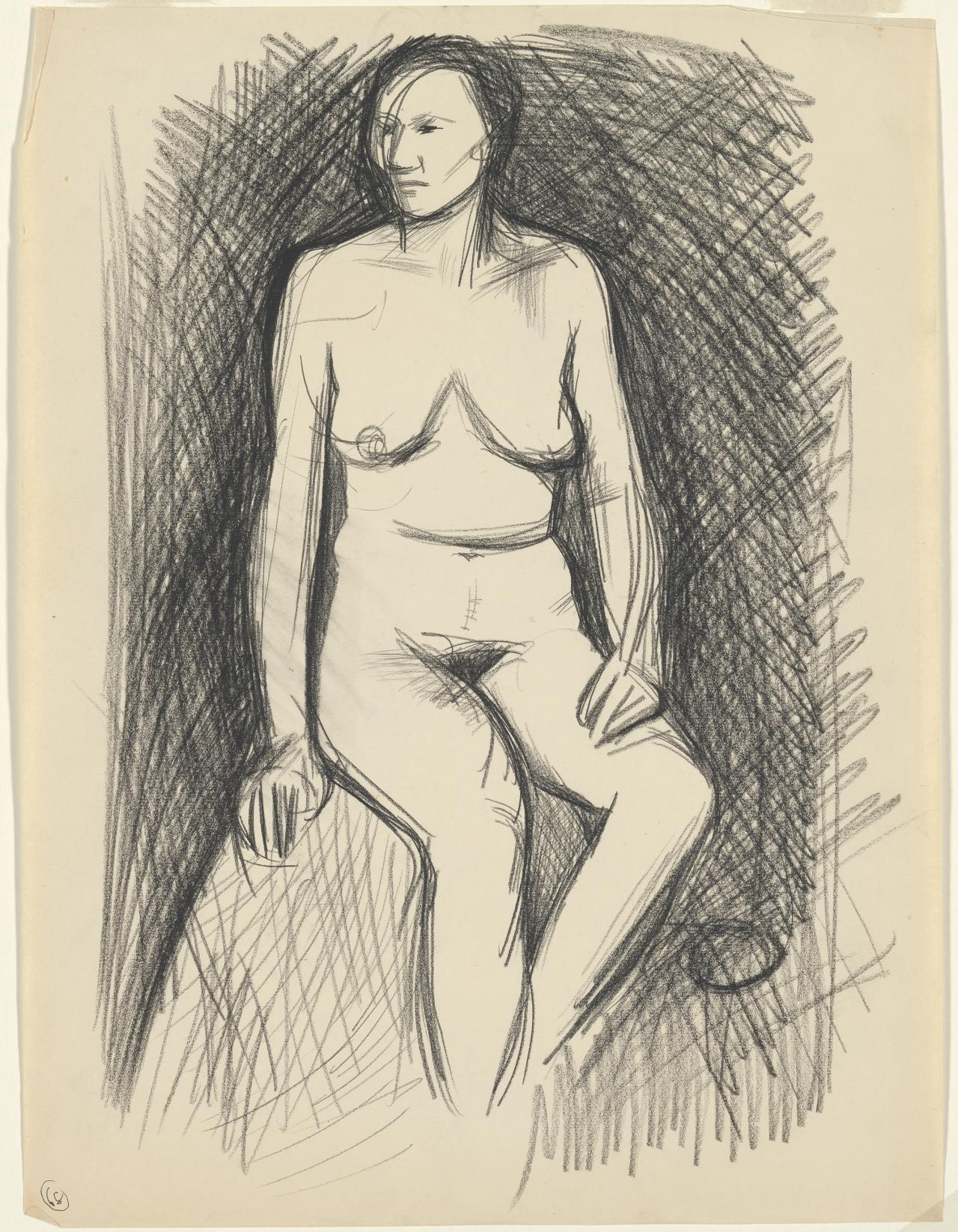 (Seated nude)