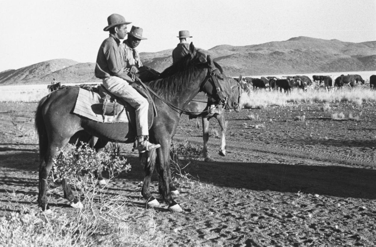 Henry and Clyde, two stockmen in the film