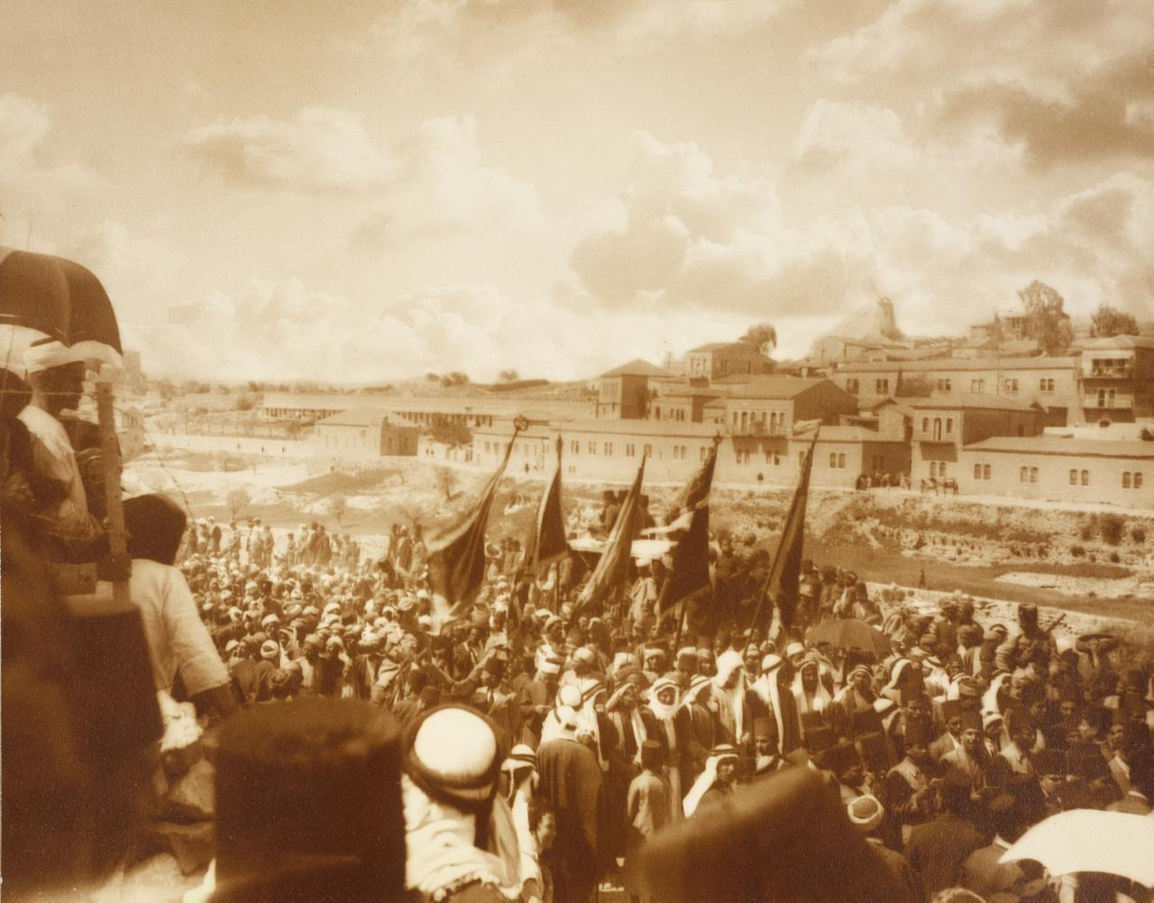The feast of Nebi Mussa, procession from Hebron to Jerusalem, Palestine