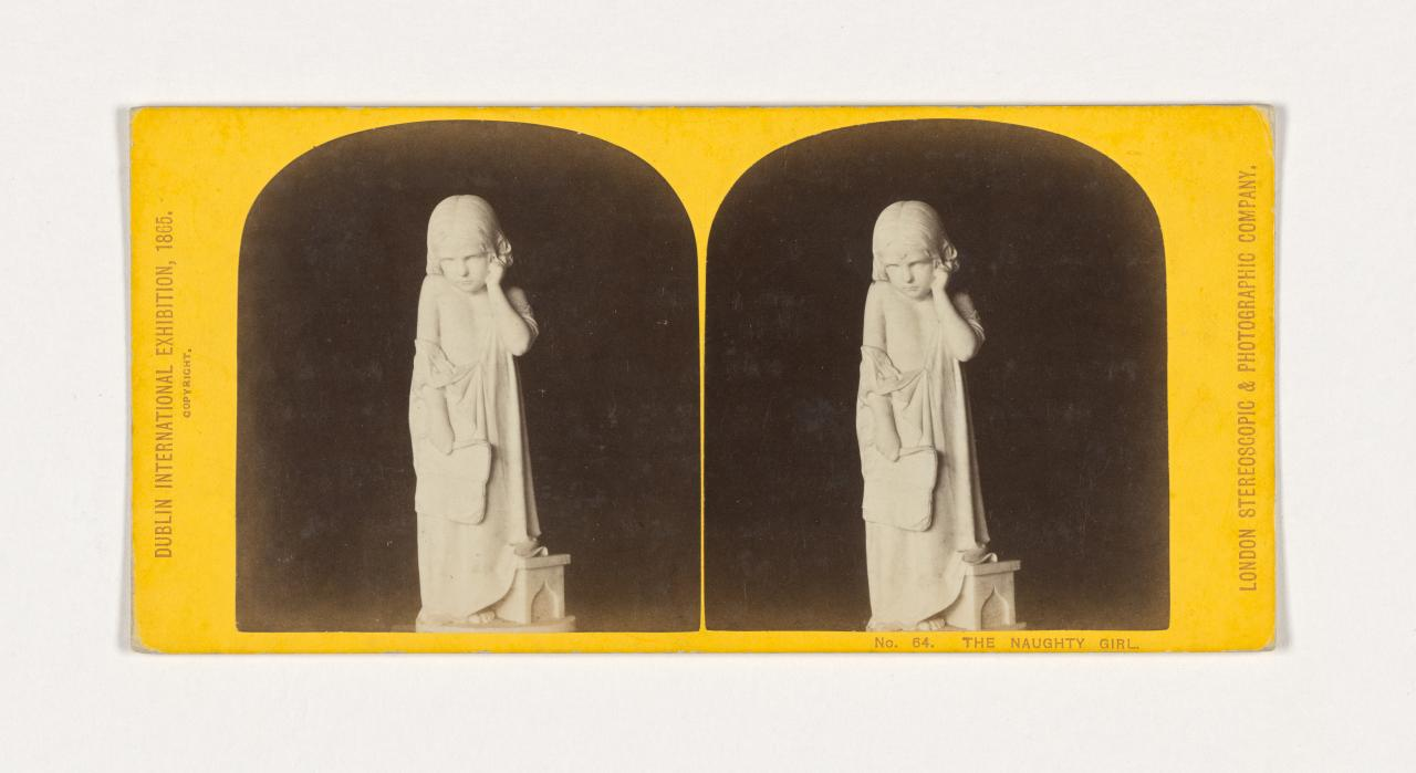 International Exhibition of Arts and Manufactures, Dublin. No. 64. The naughty girl, stereograph
