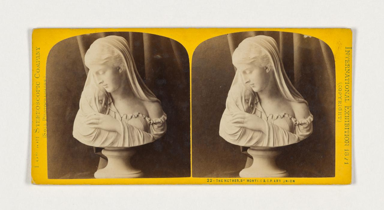 First Annual International Exhibition, London. 22. The mother by Monti, C. & C. P. Art Union, stereograph
