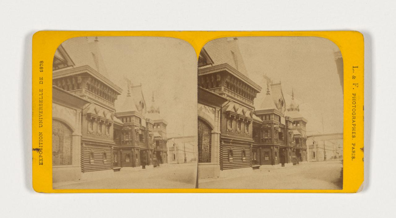 Universal Exposition, Paris. No. 21. Russian facade no. 1, stereograph