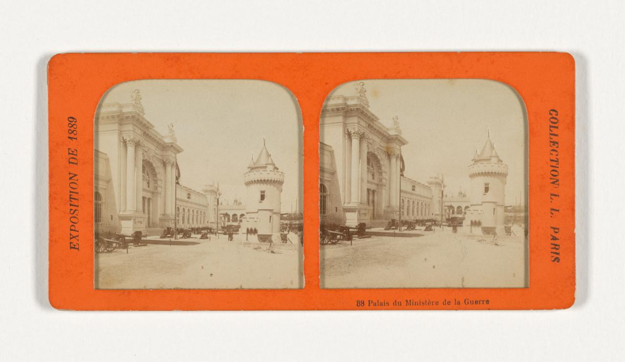 Universal Exposition, Paris. 88. Palace of the Ministry of War, French tissue stereograph
